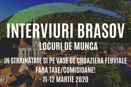 INTERVIURI BRASOV – LOCURI DE MUNCA PE VASE DE CROAZIERA SI IN STRAINATATE