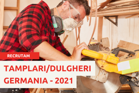 LOCURI DE MUNCA IN GERMANIA 2021 : DULGHERI-TAMPLARI – de la 1700 euro net + cazare gratuita