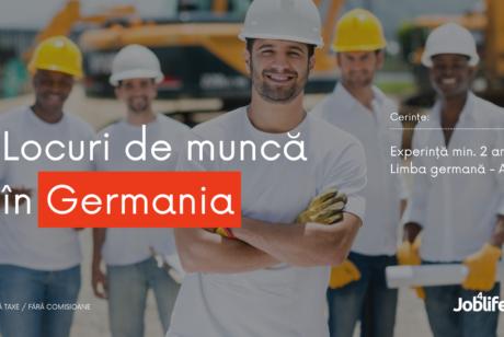 Locuri de munca Germania – aprilie 2021